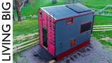 Builders Incredible Fire Resistant, Off-Grid, Passive Tiny House On Wheels