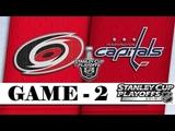 Carolina Hurricanes vs Washington Capitals Apr.13 2019 Game 2 Stanley Cup 2019 Обзор