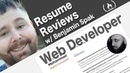 Resume Review Front end Web Developer Waqar