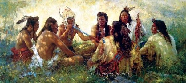 """Мудрость индейцев 1. Хороший человек видит хорошие знаки. 2. Для того, чтобы услышать себя, нужны молчаливые дни. 3. Если ты заметил, что скачешь на мёртвой лошади – слазь! 4. Тот, кто молчит, знает в два раза больше, чем болтун. 5. Есть много способов пахнуть скунсом. 6. """"Надо"""" – лишь умирать. 7. Сначала посмотри на следы своих мокасинов, прежде чем судить о недостатках других людей. 8. Родина – там, где тебе хорошо. 9. Если тебе есть, что сказать, поднимись, чтобы тебя увидели. 10. Не всегда…"""