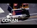 LIVE Footage Of Trump's Motorcade In Los Angeles CONAN on TBS