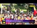 Incidente in Piata Victoriei Jandarmii au folosit gaze lacrimogene
