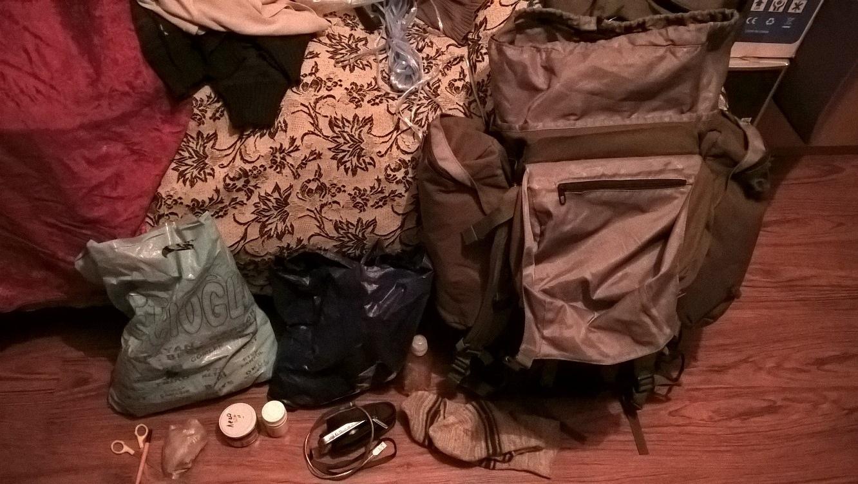 Подготовка вещей для путешествия