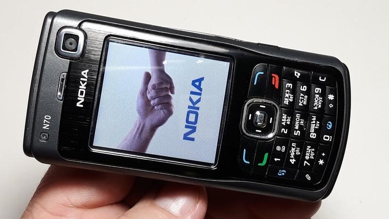 Nokia N70 оригинальный ретро телефон черный русская прошивка