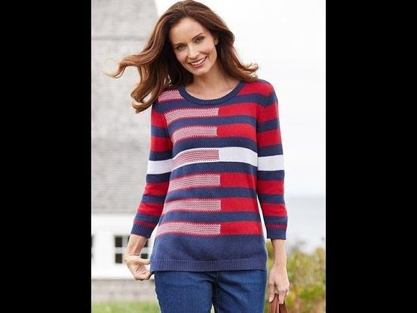 Пуловер в Полоску Спицами - 2019 / Striped Pullover