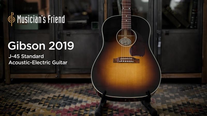 Gibson 2019 J-45 Standard Vintage Sunburst Acoustic-Electric Guitar Demo