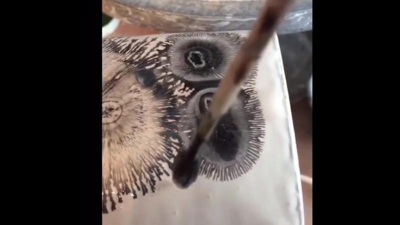 роспись на горшке