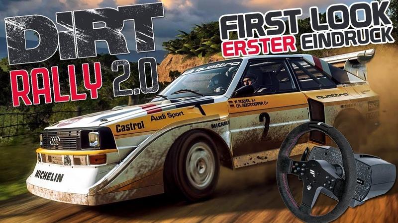 DiRT RALLY 2.0 - First Look Erster Eindruck [HD] Dirt Rally 2.0 German Gameplay Deutsch