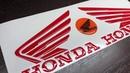 Объемные Наклейки на бак Хонда. Крылышки