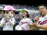 140725 Jin Se Yeon First Pitch @ LG Twins vs Lotte Giants Baseball Game