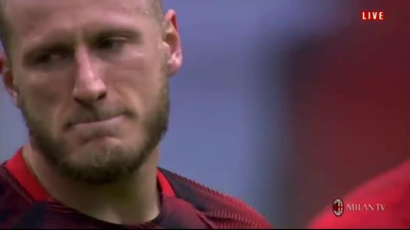 Эмоции Абате перед матчем