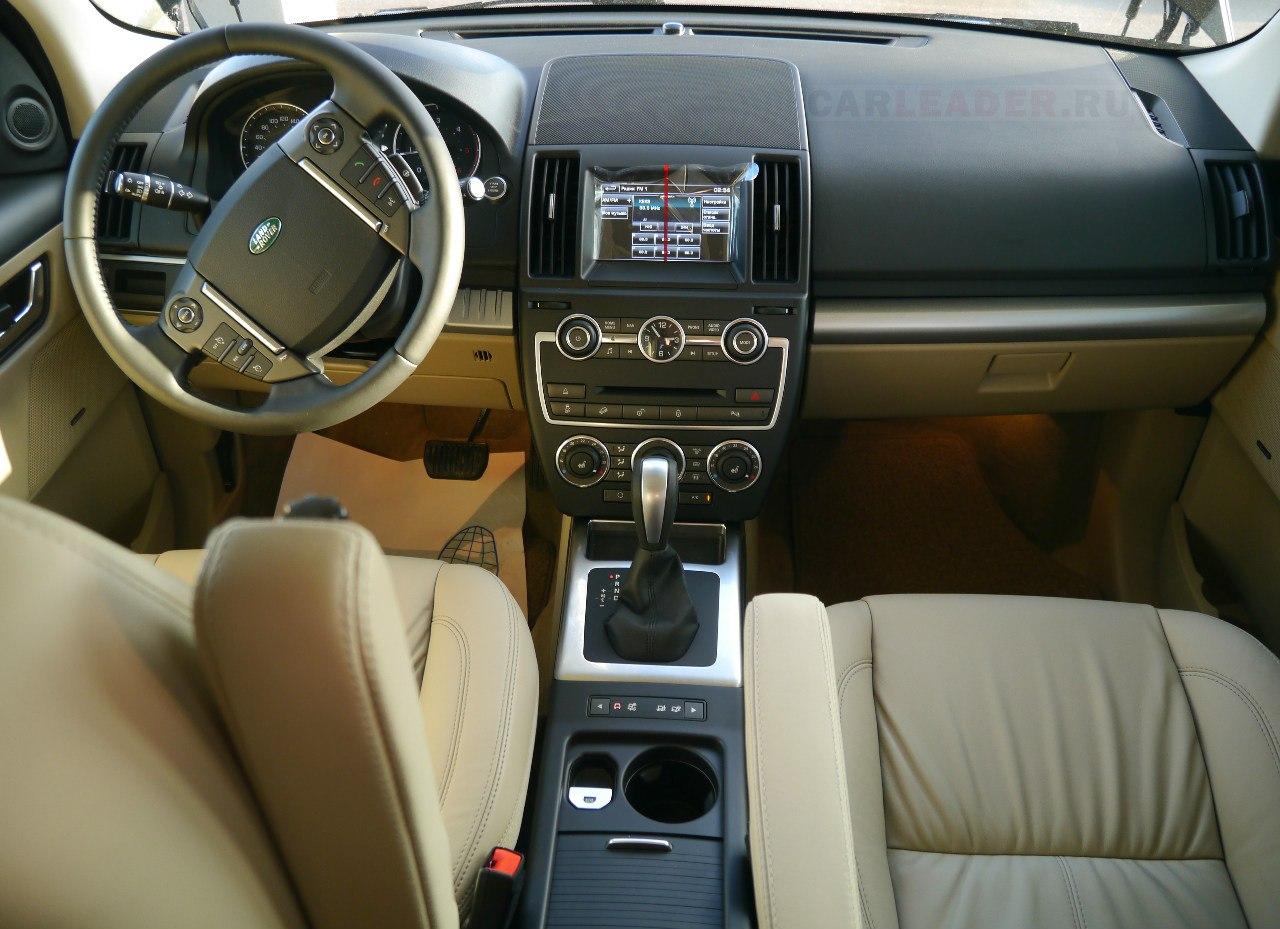 Бежевый салон Land Rover Freelander 2013