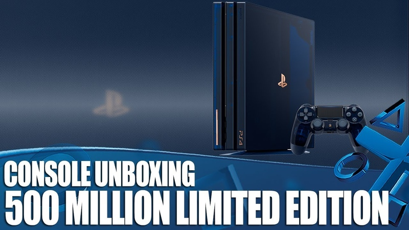 500 Million Limited Edition PS4 Pro Unboxing - The Most Beautiful PS4 Ever?