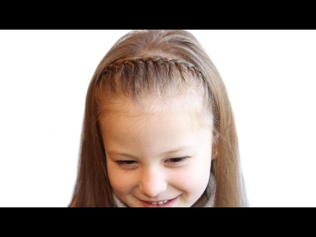Ободок из французской косы❤Легкая детская прическа ❤ Hairstyle for school