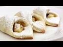 Домашнее Печенье с ЯБЛОКАМИ/ТВОРОЖНОЕ печенье Платочки