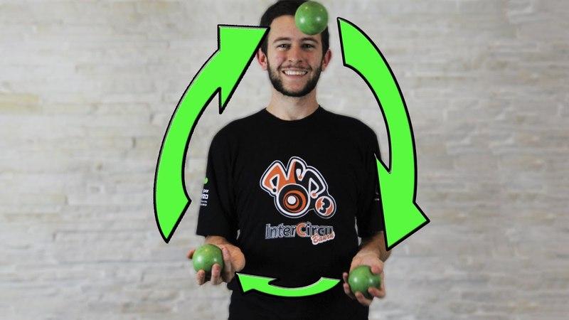 Shower Chuveirinho - Tutorial 3 bolinhas - Aprenda Malabarismo! (Juggling tutorial - 3 balls)