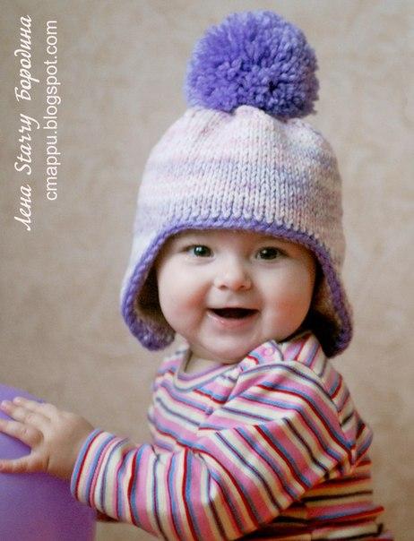 Вяжем шапочку для малышей (8 фото)