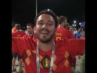 Реакция болельщиков на выход Бельгии в четвертьфинал ЧМ-2018