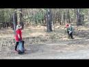 Уборка мусора на территории Верхней Березовки