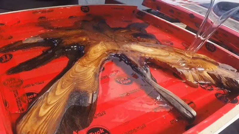 AMAZING Process Epoxy Resin and Wood Woodworking Project