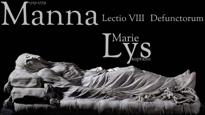 Manna Lectio VIII Defunctorum for soprano solo two violins b c