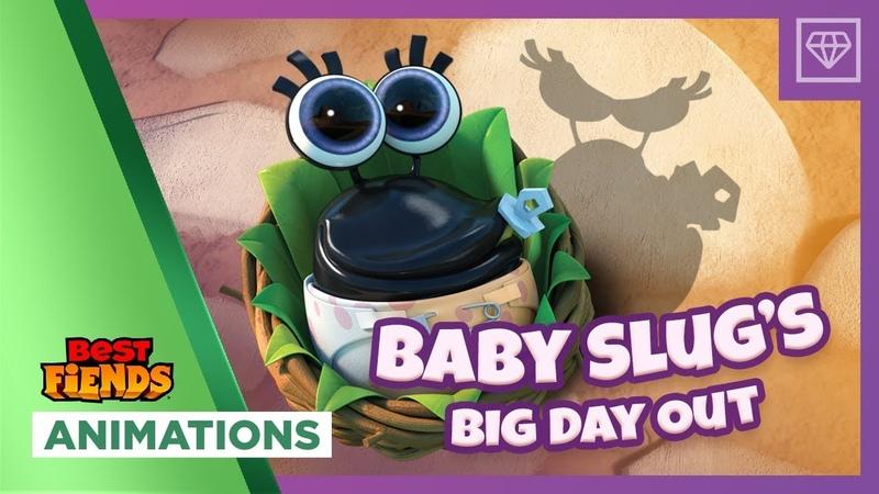 Baby Slug's Big Day Out - Мультфильм Best Fiends