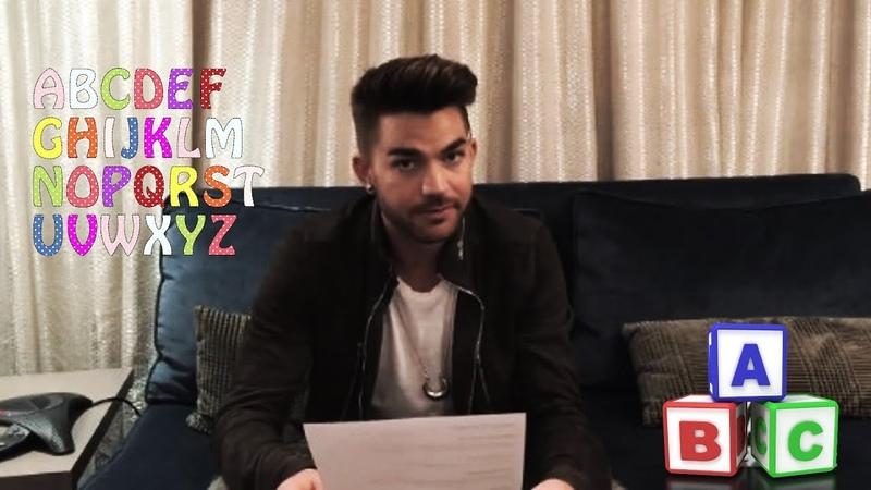 Learn the alphabet with Adam Lambert