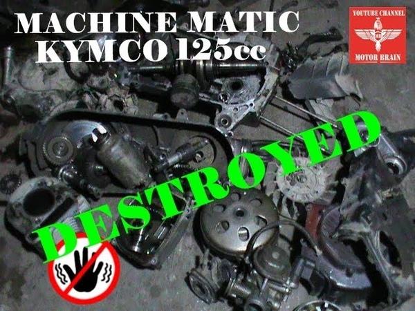 PARAH Bongkar Total Mesin Matic Kymco 125cc Begini Jadinya Jika Jarang Service Bengkel Motor