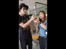 2018.08.17 тайские фанаты, которые ездили в Корею, встретились с Джунки в ресторане