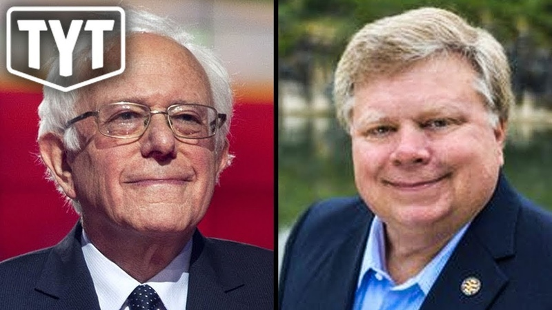 Bernie Sanders e Prefeito republicano unidos em energia renovável.