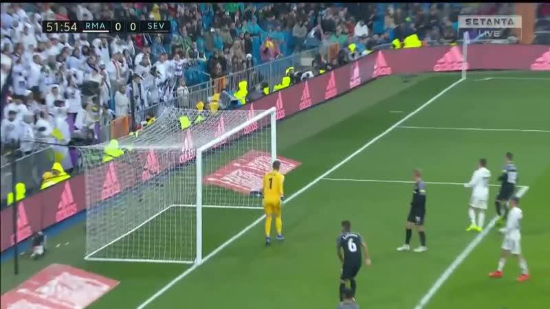 Испания ЛаЛига Реал Мадрид Севилья 2 0 обзор 19 01 2019 HD
