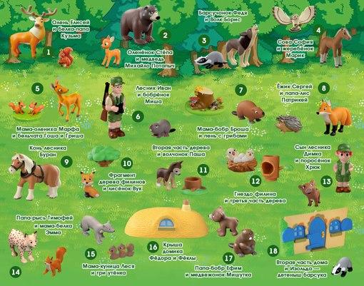 А вы собираете??, животные леса деагостини график