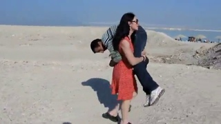 Strong Muscle female lift and carry man