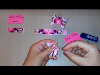 Бантики Малышки из репсовых лент МК Канзаши _ Bows Baby girl from REP ribbons Kanzashi MK