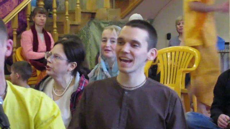 Воскресный киртан в сибирском храме Шри Шри Радха Говинды***г.ОМск 20.01.19.