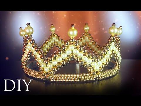 DIY: handmade Royal crown 👑 of beads / Королевская корона из бисера своими руками