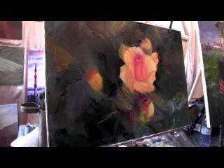Научиться рисовать розы, цветы, букет, живопись для начинающих, масляная живопись