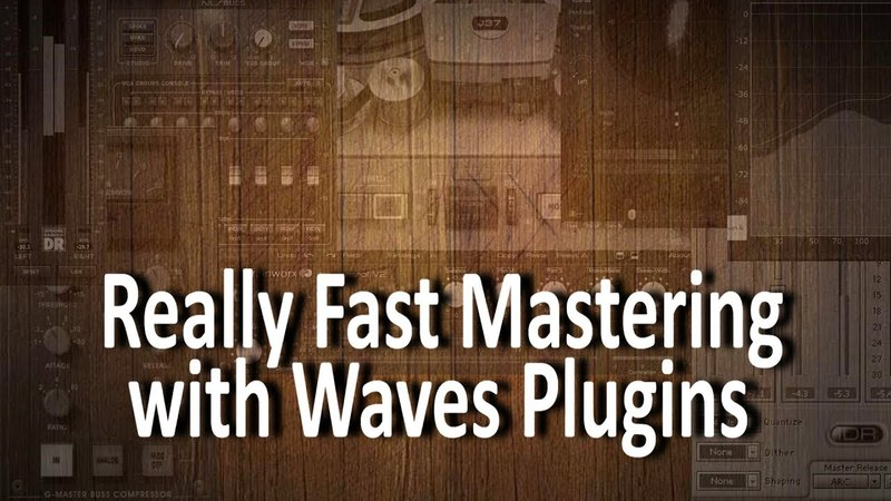 Quick mastering with Waves plugins (and PIA, Flux, Maat SIRaudio)