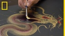 The Art of Single Stroke Painting in Japan National Geographic