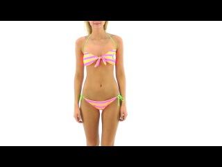 Hello Kitty Junior's Striped Bandeau Bikini Set | SwimOutlet.com