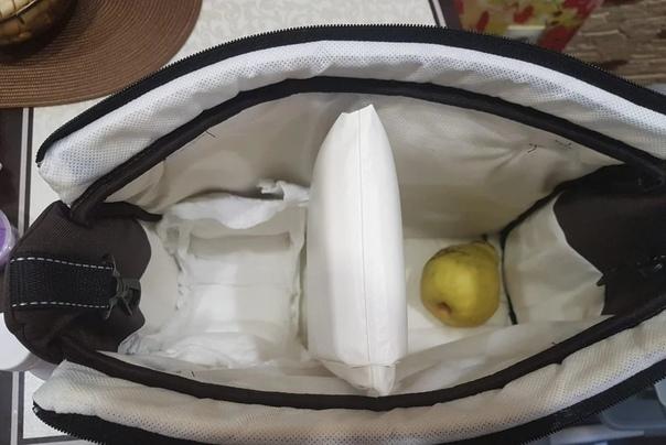 Как сделать сумку-холодильник при помощи обычного подгузника наполненного...