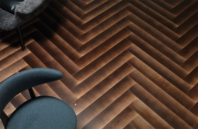 This new wood flooring is designed to have a gradient shado