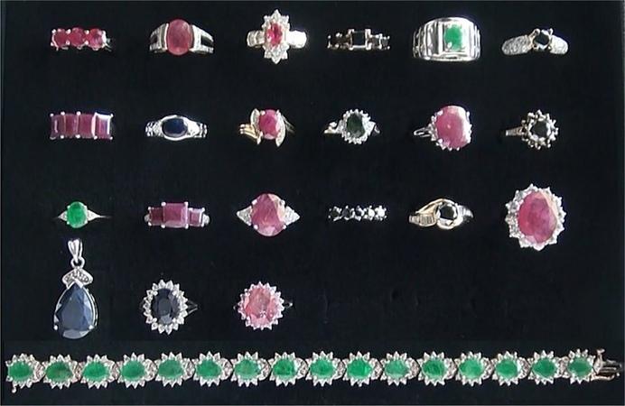 CLOSEOUT Natural Rubies Emeralds Sapphires Black White Diamond Rings 14k Gold
