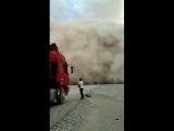 Пыльная буря в Синьцзян-Уйгурском автономном районе (Китай, 2018 год).
