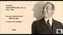 Baritono GIUSEPPE DE LUCA (Händel) - Rinaldo Lascia ch'io pianga (1918)