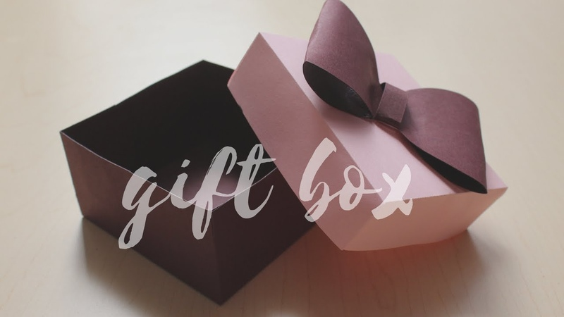 DIY: How to make a Gift Box   Easy Box for Gift   Easy craft for Thanksgiving
