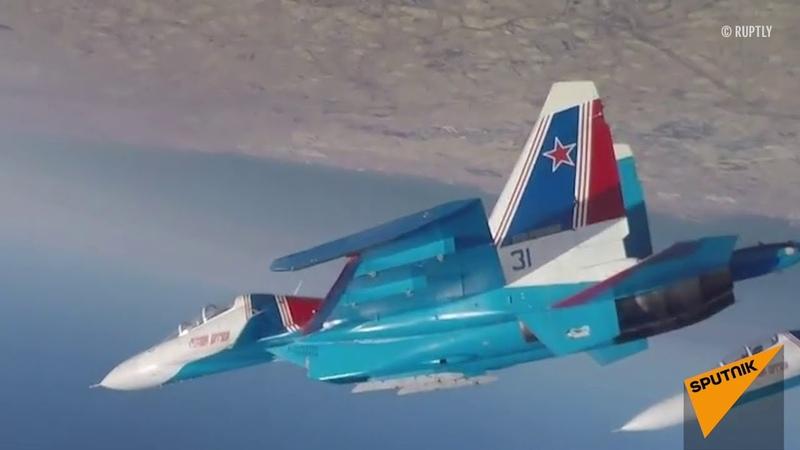 Русские Витязи в Бахрейне показали высший пилотаж