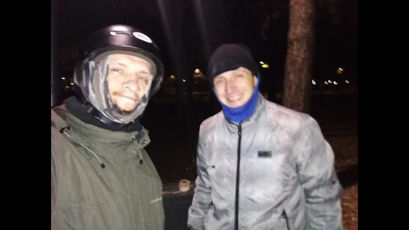 On a Bicycle on ice (-3 frost. November) Sony Action Cam. MoscoW.