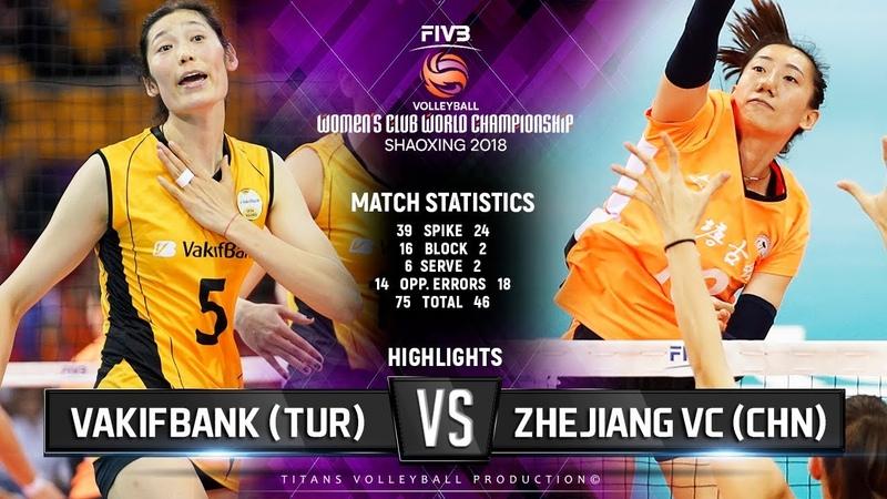 Zhejiang (CHN) vs. VakifBank (TUR) - Highlights | FIVB Women's Club World Championships 2018