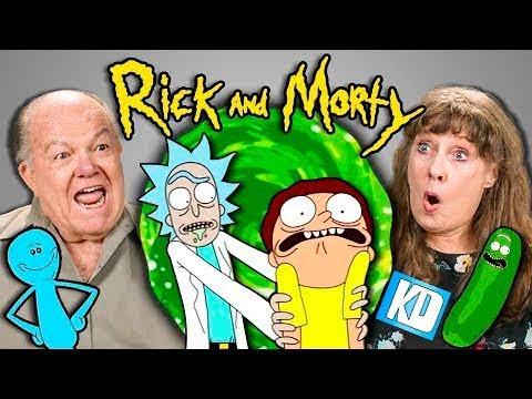 Реакция Стариков на мультсериал Рик и Морти(русская озвучка KD)